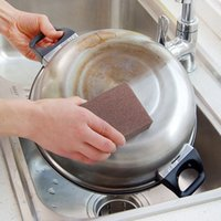 Pan area computers - High Quality Large Area Carborundum Fine Flexible Descaling Cleaning Magic Brush Sanging Sponge for Pan Pot Kitchen