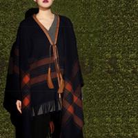 Wholesale 2016 New Arrival Brand Women Blanket Poncho Cashmere Wool Scarf Cape Winter bufanda manta Tartan Plaid l Scarves