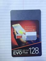 Wholesale 100 real class10 GB GB GB GB GB EVO Plus micro sd card Class10 U3 smartphone TF card C10 Tablet PC SDXC Storage card MB S