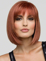 Wholesale Hot Selling Lady High Artificial European Fashion Straight Short cm Bobo Synthetic Hair Wigs Products with Fringe pc ctn
