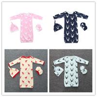 baby bedding brands - 2016 INS christmas sleeping bag sets Newborns sleeping bag hat glove Baby Autumn Winter Red Deer Bedding baby sleeping bag