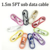 Wholesale 1 m metal head nylon braid Micro usb data Cable charging cord wire for samsung s4 s6 s7 s7 and i5 i6 phone