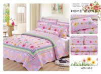 Wholesale Floral Printed Quilted Bedspread Cotton Pieces Vintage Style King Size Patchwork Bed Cover sheet sets Machine Washale