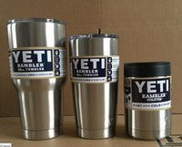 Wholesale Yeti oz oz Cups Cooler YETI Rambler Tumbler Travel Vehicle Beer Mug Double Wall Bilayer Vacuum Insulated DHL