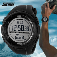 Wholesale 2016 New Skmei Brand Men LED Digital Military Watch M Dive Swim Dress Sports Watches Fashion Outdoor Wristwatches