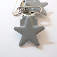 Wholesale mm GREY COLOR Star Shaped Pacifier Clips
