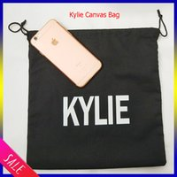 Wholesale New Kylie Canvas makeup bag kylie lip kit Cosmetics Canvas bags Birthday Collection Bundle Bronze Kyliner Copper Creme Shadow Makeup Bag