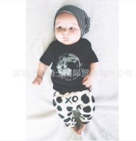 Wholesale wholeasle new INS spring summer baby clothes sets newbron boy girl sutfits cotton T shirt print shatk long pants infant pieces clothes