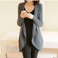 Wholesale LOWEST PRICE COLORS New autumn winter fashion Women long sleeve Knitted Sweater Cardigans outerwear shawl knitwear DF191