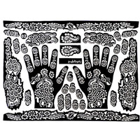 Wholesale Tattoo Templates Hands Feet Henna Tattoo Stencils for Airbrushing Mehndi Body Painting