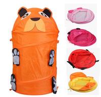 Wholesale Style Cute Cartoon Animal Storage Bucket Lovely and Fashion Folding Cylinder Laundry Basket Toy Box Storage Bag