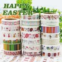 Wholesale No1 to No for choose Printing paper adhesive M L x15mm W color sticker paper party paper Easter paper