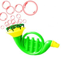 Wholesale child like Musical Instruments shape bubble toy wand water gun blowing machine blower for Party Outdoor Gift