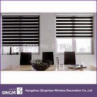 Wholesale Popular Zebra blinds finished product double layer roller blinds curtains for window treatments louver venetian blinds