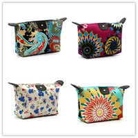 Cheap 2016 Womens Retro Storage Bag Organizer Coin Case Bag Floral Pouch Cosmetic Bag Free Shipping JF-531