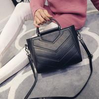 beaded business sale - Factory direct sale new female bag of PU leather embroider line female bag handbag shoulder