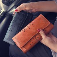 Wholesale 2017 New Fashion Women Lady PU Leather Clutch Wallet Long Card Holder Purse Handbag