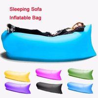 Wholesale Fast Inflatable Sofa Sleeping Bag Outdoor Air Sleep Sofa Couch Portable Furniture Sleeping Hangout Lounger Inflate Air Bed Imitate OTH238
