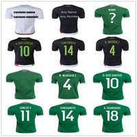 Wholesale Mexico Soccer Jersey G DOS SANTOS CHICHARITO HERNANDEZ LAYUN A GUARDADO O PERALTA P AGUILAR Mexican Football Shirt