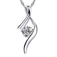 Wholesale Music Style Necklace Top Quality Romantic Platinum Plated Pendants Necklaces With Zircon Nickle Free Antiallergic Jewelry