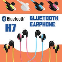 Wholesale H7 Wireless Bluetooth V4 Sport Earphone And Noise Reduction Stereo Headset For iPhone Plus S Samsung S7 Edge Headphone Best CSR