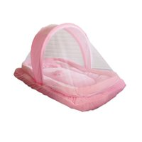baby travel sets - Infants Baby Tent For Children Mosquito Mesh Crib Netting NewBorn Travel Bed Folding Net Cushion Mattress Pillow Set T0141
