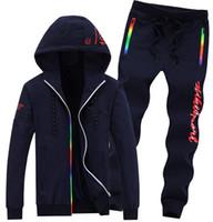 Wholesale Men s sports suit new listing sports suit Color matching casual sports suit classic Men s outdoor sports suit