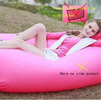 air mattress camping - Fast Inflatable Camping Sofa banana Sleeping Lazy Chair Bag Nylon Hangout Air Beach Bed chair Couch Lay bag Inflatable sofa Seconds open
