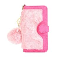 apple key rings - luxury Multi function in detachable hairy wallet flip case cover skin for iPhone Plus with key ring
