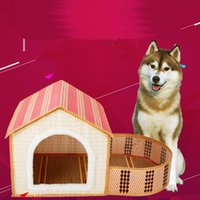 bamboo house - Do You Treasure Pets Articles Middle And Small Size Dog Teddy Than Xiong Guibin Summer Bamboo Weaving Kennel The Cat Cage Villa Summer Sleep