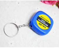 Wholesale Small meters tape Keychain portable measuring ruler hardware tools mini steel tape measuring ruler
