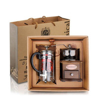 Wholesale New arrival household and Office Manual coffee grinder coffee pot Coffee Grinder Machine set