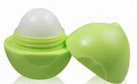 Wholesale 12pcs Fruit Taste Round Shape Balms Flavors Moisturizing Lip Gloss Fruit Lovely Lip Gloss Lip Care Makeup