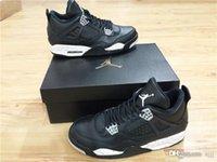 Compra 4s retro jordan-Air RR Jordan 4 Retro ls OREO Jordans Retros 4s ls OREO 314254 003 LS Negro / Tech Gris-Negro Zapatos De Baloncesto Con Caja Original