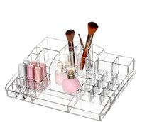 acrylic makeup display - New Acrylic Transparent Cosmetic Organizer Cosmetics Brush Tools Lipstick Containing Display Box Makeup Case Sundry Storage