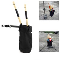 Wholesale 2016 Durable Color Drum Sticks Holders Black Nylon Clip On Stand Drumsticks Cases Drummer Accessories New