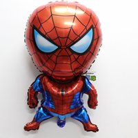 balloons party shop - 80 CM Spider Man balloons helium foil balloons party decoration balloons doctora juguetes cumpleanos free shop