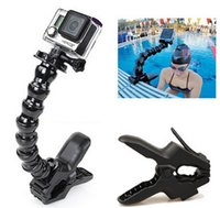 Wholesale Go pro Accessories tripod monopod Jaws Flex Clamp Mount and Adjustable Neck for GoPro Camera Hero1 sj4000 LLFA