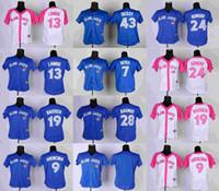 Wholesale Toronto Blue Jays Women Bassball Jerseys J P Arencibia Jose Bautista Brett Lawrie Ricky Romero R A Dickey Girls Jerseys