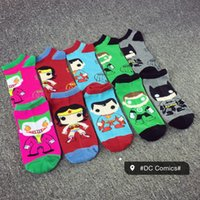 3-6T baby girl joker - 5 Style Children Baby kids Socks Superman Batman Green Lantern Wonder Woman Joker Cartoon Socks Cotton Low Ankle Sock for Boys Girls
