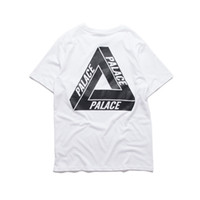 Wholesale Hot Sale TMT PALACE T Shirt Crew Neck Short Sleeve Mens Summer Cotton Tees White Black Skateboards Sport Shirt Women Triangle Tee YBG0301