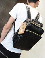 Wholesale designer mens wallet brand bag are British style leather men backpack Europe new crocodile men leisure Backpack Laptop Bag embossed trend