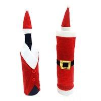 belt buckle kits - Hot new Christmas Santa gift red Christmas decorative wine bottle Kit with Christmas on the bottle mouth belt buckle