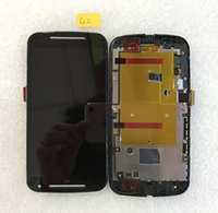 Wholesale For Motorola Moto G2 lcd XT1063 XT1068 XT1069 Display Screen with Touch Digitizer with Frame Assembly with