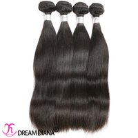 Compra Teñidos haces de pelo de malasia-El pelo de Malasia aglutina el pelo recto de la Virgen 4 paquetes 400g El negro natural puede ser teñido puede ser Permed Máquina Trama doble