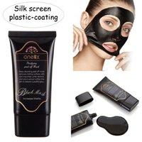 al por mayor plástico de la pantalla de seda-ONE1X Blackhead Máscara Facial Deep Cleansing Negro MASK 50ML Máscara de barro Máscara de seda de plástico de revestimiento
