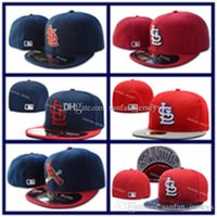 Ball Cap Unisex Spring & Fall Discount Baseball Cardinals Fitted Caps Embroidered Logo STL Baseball Cap Cool Base Full Closed Flat Brim Hip Hop Caps With Box