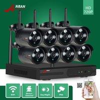 ANRAN Surveillance Vidéo Surveillance 8CH WIFI NVR HDMI 720P Outdoor Réseau Array IR Accueil Surveillance CCTV Système Sans Fil Caméra IP