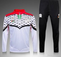 Wholesale New Thai Palestine tracksuit jacket with pants Survetement Palestinian Football Training clothes coat chandal sports jerseys