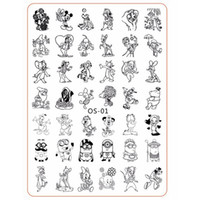animals cartoon images - Cartoon Cute Animal Designs nail disk nail art image plate Stamping Template Mouse Cat Dog DIY Tools with Protective Back OS